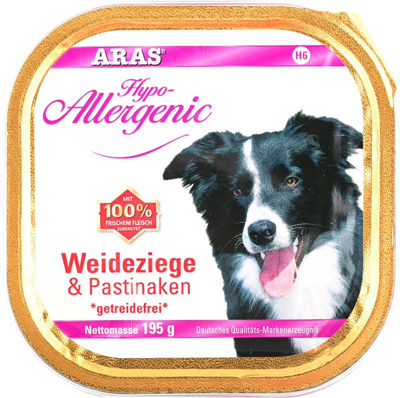 Консервы для собак Aras Hipo-Allergenic, с козой и пастернаком, 195 г консервы для собак aras hypo allergenic гипоаллергенные с бараниной и рисом 820 г