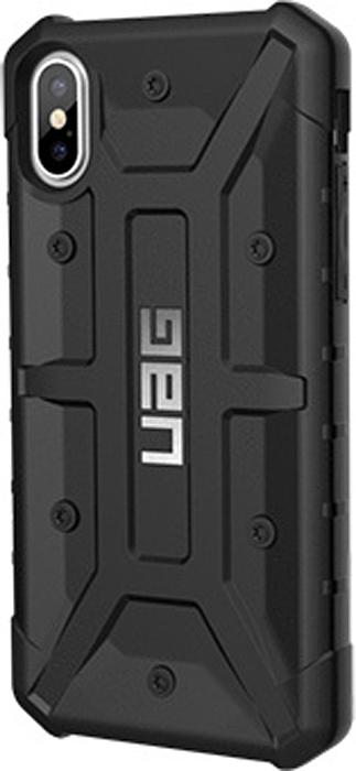 UAG Pathfinder чехол для iPhone X, BlackIPHX-A-BK;IPHX-A-BKСпециальный защитный чехол для iPhone подойдет для людей, которые хотят получить максимальную защиту для своего устройства. Чехол изготовлен изсовременных, легких ипрочных материалов, сможет надежно защитить смартфон отцарапин, потертостей иударов.Аглавное имеет защиту при падении всоответствии своенным стандартом MILSTD 810G 516.6.