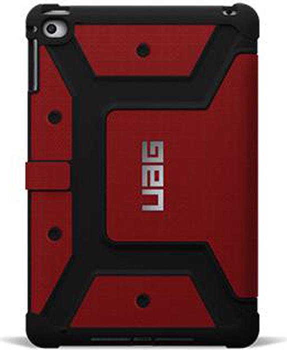 UAG чехол для iPad mini 4, RedUAG-IPDM4-RED-VPСпециальный защитный чехол для iPad подойдет для людей, которые хотят получить максимальную защиту для своего устройства. Чехол изготовлен изсовременных, легких ипрочных материалов: поликарбоната иполиуретана.