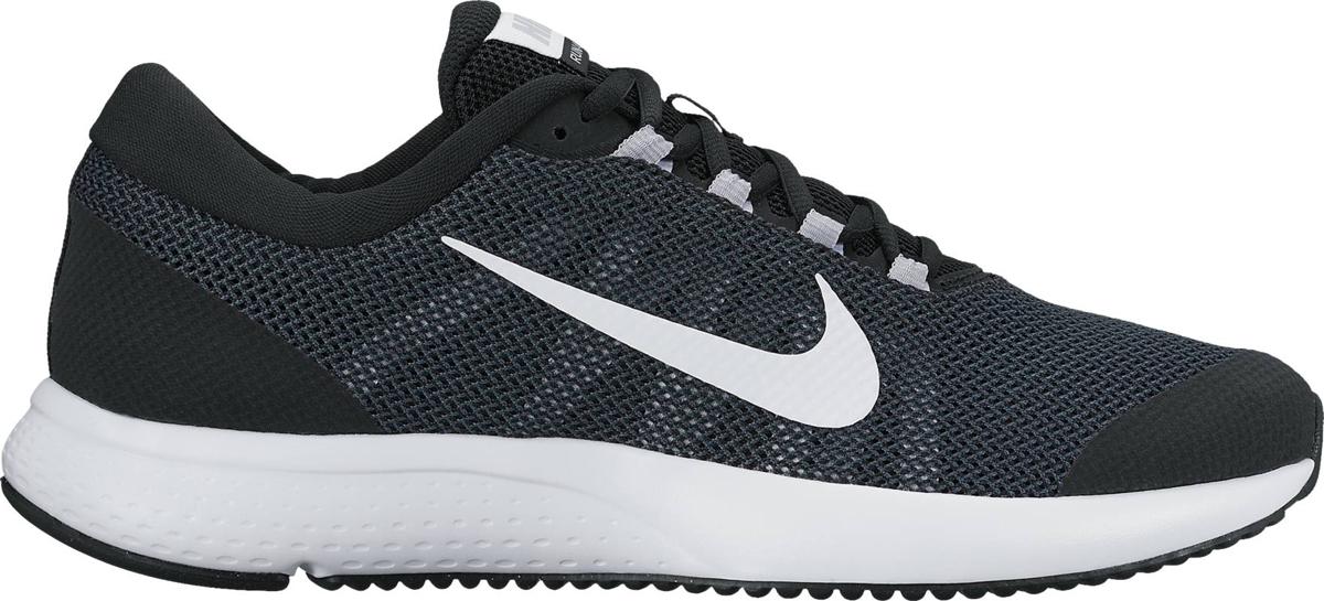 Кроссовки для бега мужские Nike Run All Day, цвет: черный. 898464-001. Размер 8,5 (41)898464-001Мужские беговые кроссовки Run All Day от Nike обеспечивают амортизацию и комфорт на любой дистанции. Система шнуровки в средней части стопы надежно фиксирует стопу, а подметка из мягкой резины и подошва из материала Phylon обеспечивают адаптивную амортизацию. Мягкий бортик обеспечивает дополнительный комфорт. Инжектированная подошва из материала Phylon для адаптивной амортизации. Сетка верха Engineered Mesh обеспечивает вентиляцию и поддержку в ключевых зонах. Вафельная подметка из мягкой резины для надежного сцепления с различными поверхностями. Перепад: 10 мм. Колодка: MR-10.