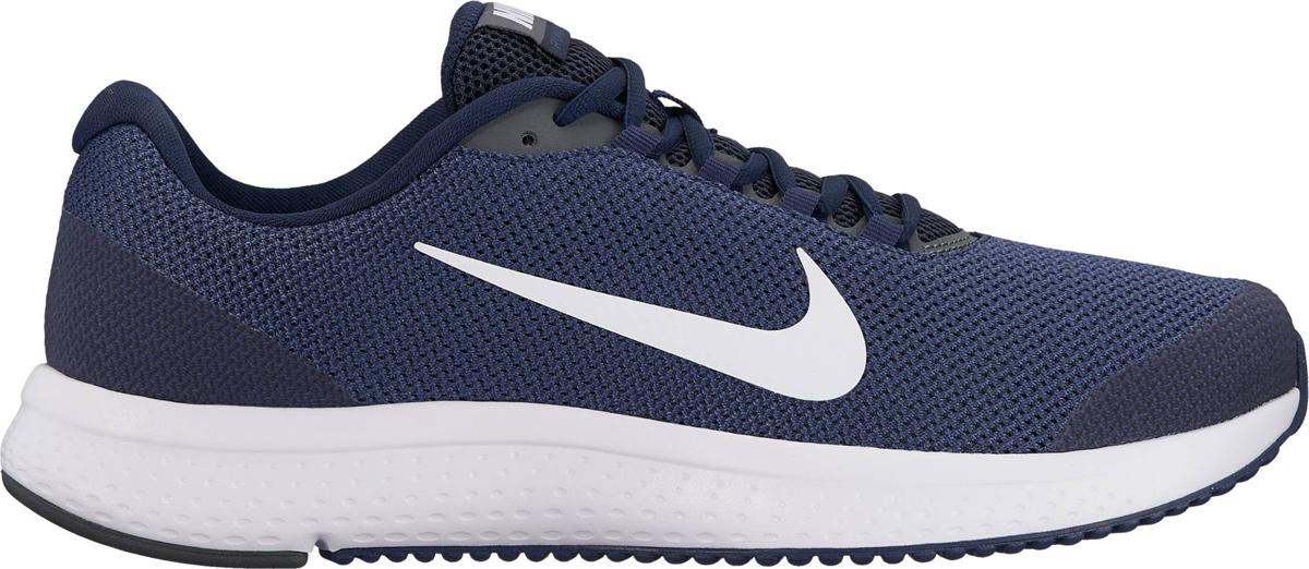 Кроссовки для бега мужские Nike RunAllDay, цвет: синий. 898464-403. Размер 10 (43)898464-403Мужские беговые кроссовки Nike RunAllDay обеспечивают амортизацию и комфорт на любой дистанции. Система шнуровки в средней части стопы надежно фиксирует стопу, а подметка из мягкой резины и подошва из материала Phylon обеспечивают адаптивную амортизацию. Система шнуровки в средней части стопы надежно фиксирует стопу. Мягкий бортик обеспечивает дополнительный комфорт. Инжектированная подошва из материала Phylon для адаптивной амортизации. Сетка верха Engineered mesh обеспечивает вентиляцию и поддержку в ключевых зонах. Вафельная подметка из мягкой резины для надежного сцепления с различными поверхностями. Вес: 298 г (мужской размер 10)Перепад: 10 ммКолодка: MR-10
