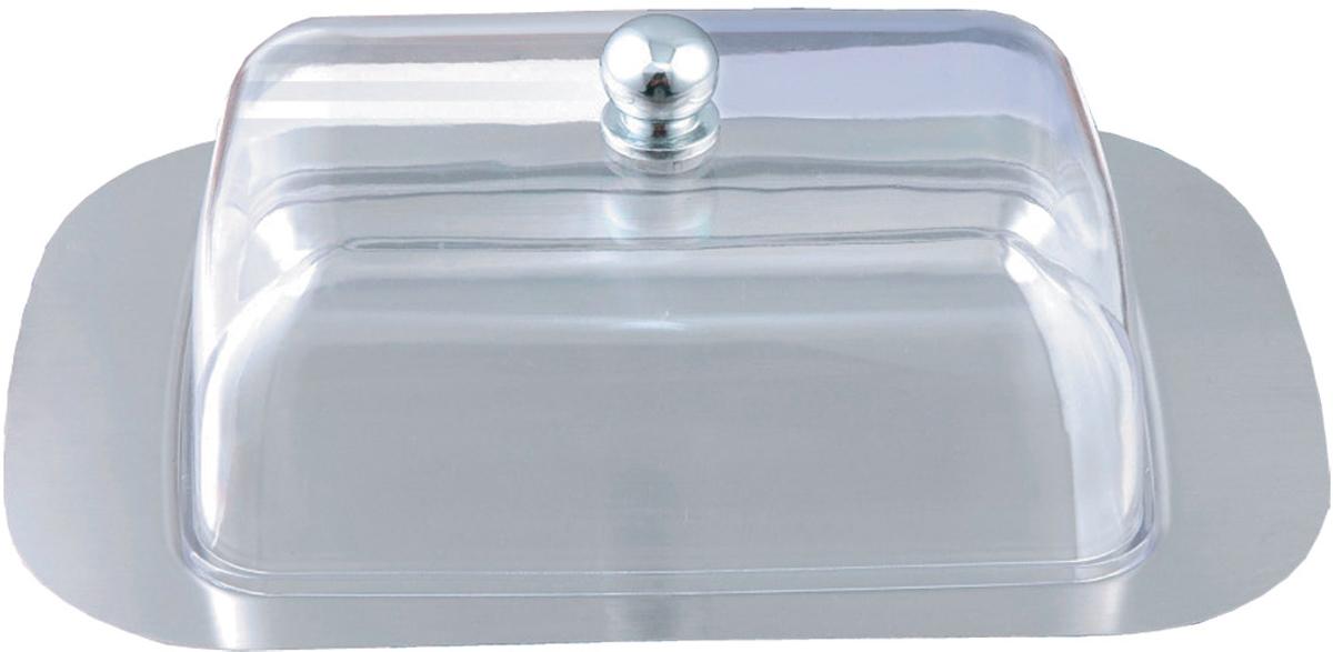 Масленка Bohmann, цвет: серебристый. 2011BH2011BHСтальная масленка. Сталь быстро охлаждается сама и забирает тепло с продукта. Можно мыть в посудомоечной машине. На крышке - большая круглая ручка