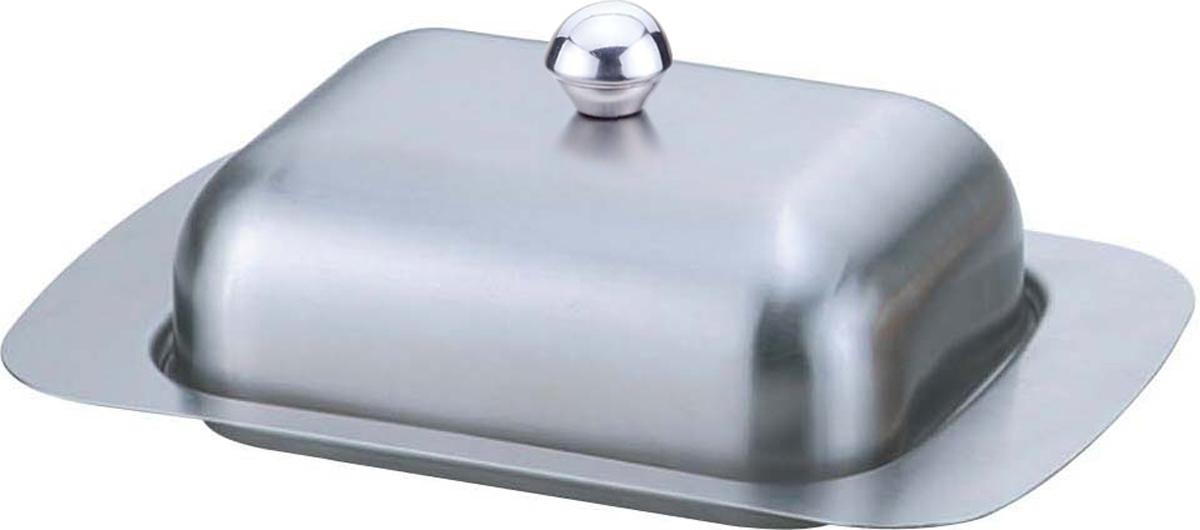 Масленка Bohmann, цвет: серебристый. 2010BH2010BHСтальная масленка. Сталь быстро охлаждается сама и забирает тепло с продукта. Можно мыть в посудомоечной машине. На крышке - большая круглая ручка