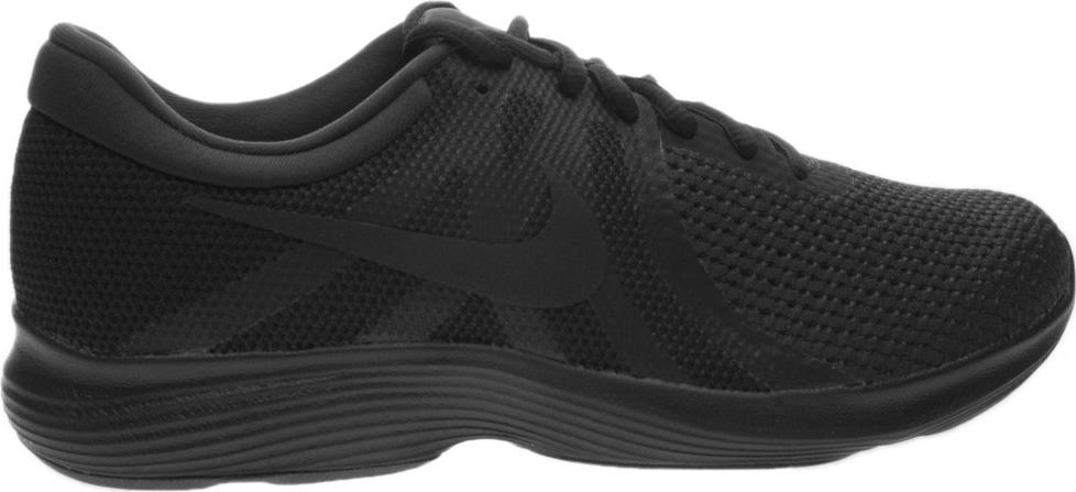 Кроссовки для бега женские Nike Revolution 4 (EU), цвет: черный. AJ3491-006. Размер 10 (41)AJ3491-006Женские кроссовки для бега Revolution 4 (EU) от Nike в минималистичном стиле выполнены из легкой однослойной сетки для воздухопроницаемости и мягкого пеноматериала для невероятного комфорта и упругости. Верх из сетки для оптимальной воздухопроницаемости. Мягкая подошва из пеноматериала обеспечивает оптимальную амортизацию без утяжеления. Резиновая подметка для надежного сцепления. Нижние накладки на мыске и носке для поддержки и прочности конструкции. Литые накладки обеспечивают сцепление на разных поверхностях. Накладки поглощают ударные нагрузки при отскоке в области носка, создавая эффект поршня для адаптивной амортизации. Перепад: 10 мм. Колодка: MR-10.