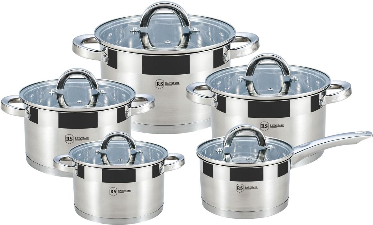 Набор посуды Rainstahl, цвет: серебристый, 10 предметов. 1013-10RS\CW набор посуды rainstahl 8 предметов 1230 08rs cw mrв