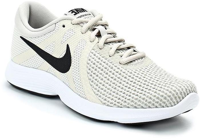 Кроссовки для бега женские Nike Revolution 4 (EU), цвет: бежевый. AJ3491-005. Размер 10 (41)AJ3491-005Женские кроссовки для бега Revolution 4 (EU) от Nike в минималистичном стиле выполнены из легкой однослойной сетки для воздухопроницаемости и мягкого пеноматериала для невероятного комфорта и упругости. Верх из сетки для оптимальной воздухопроницаемости. Мягкая подошва из пеноматериала обеспечивает оптимальную амортизацию без утяжеления. Резиновая подметка для надежного сцепления. Нижние накладки на мыске и носке для поддержки и прочности конструкции. Литые накладки обеспечивают сцепление на разных поверхностях. Накладки поглощают ударные нагрузки при отскоке в области носка, создавая эффект поршня для адаптивной амортизации. Перепад: 10 мм. Колодка: MR-10.