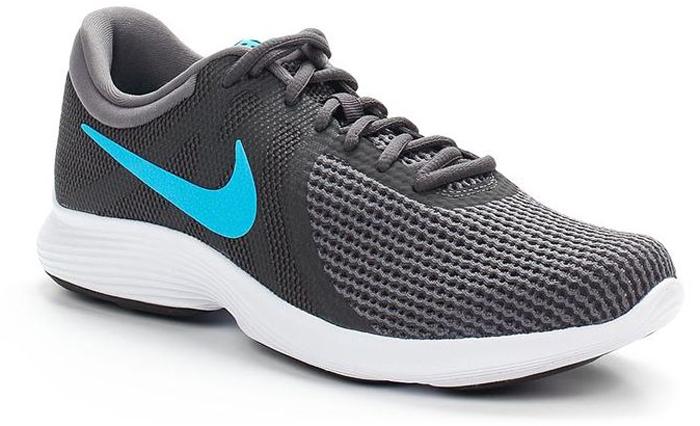 Кроссовки для бега мужские Nike Revolution 4 (EU), цвет: серый. AJ3490-003. Размер 10 (43)AJ3490-003Мужские кроссовки для бега Revolution 4 (EU) от Nike в минималистичном стиле выполнены из легкой однослойной сетки для воздухопроницаемости и мягкого пеноматериала для невероятного комфорта и упругости. Верх из сетки для оптимальной воздухопроницаемости. Мягкая подошва из пеноматериала обеспечивает оптимальную амортизацию без утяжеления. Резиновая подметка для надежного сцепления. Нижние накладки на мыске и носке для поддержки и прочности конструкции. Литые накладки обеспечивают сцепление на разных поверхностях. Накладки поглощают ударные нагрузки при отскоке в области носка, создавая эффект поршня для адаптивной амортизации. Перепад: 10 мм. Колодка: MR-10.
