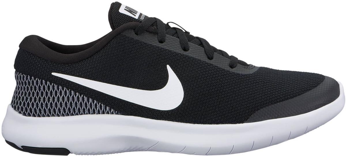 Кроссовки для бега женские Nike Flex Experience RN 7, цвет: черный. 908996-001. Размер 7,5 (37,5)908996-001Женские беговые кроссовки Flex Experience RN 7 от Nike обеспечивают плотную посадку и гибкость благодаря пятке с яркой сеткой спейсер и мягкому трикотажу в области мыска. Шестигранные эластичные желобки протектора обеспечивают гибкость и естественность движений. Трикотаж с меланжевым эффектом обеспечивает комфорт и вентиляцию без утяжеления. Скругленная пятка для естественной свободы движений. Сетка спейсер в районе пятки повторяет форму стопы для естественной посадки и добавляет цветовой акцент. Текстурированная подошва обеспечивает дополнительное сцепление и прочность. Колодка: QD-39. Перепад высоты: 8 мм.