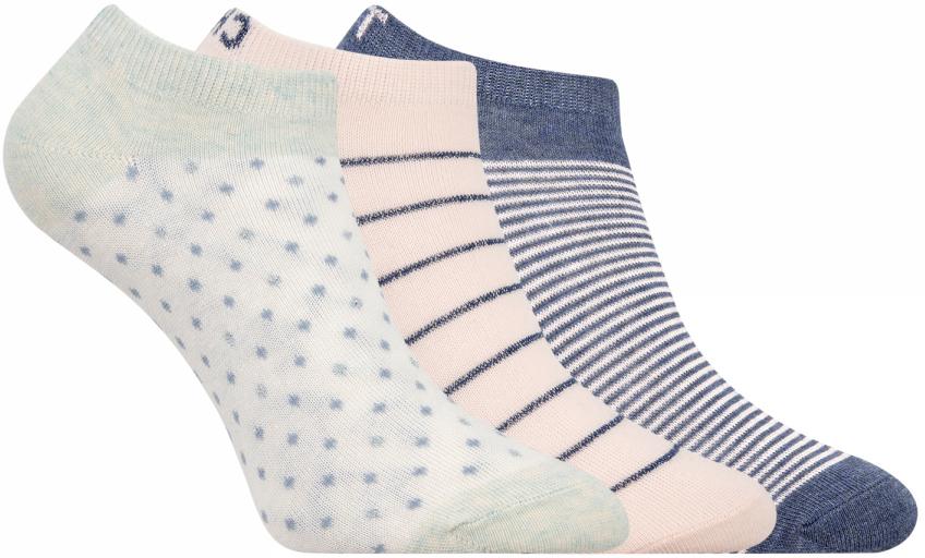 Носки женские oodji, цвет: белый, бежевый, темно-синий, 3 пары. 57102477T3/15845/19FHP. Размер 35/3757102477T3/15845/19FHPКомплект от oodji состоит из трех пар укороченных носков. Носки выполнены из эластичного хлопкового материала с эластичной резинкой на паголенке.