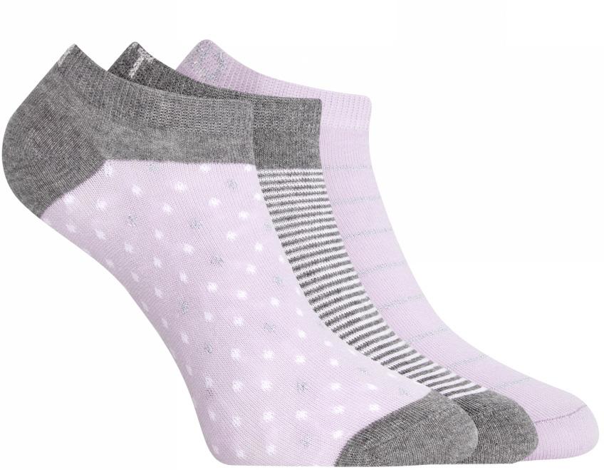 Носки женские oodji, цвет: сиреневый, серый, 3 пары. 57102477T3/15845/19FGP. Размер 35/3757102477T3/15845/19FGPКомплект от oodji состоит из трех пар укороченных носков. Носки выполнены из эластичного хлопкового материала с эластичной резинкой на паголенке.