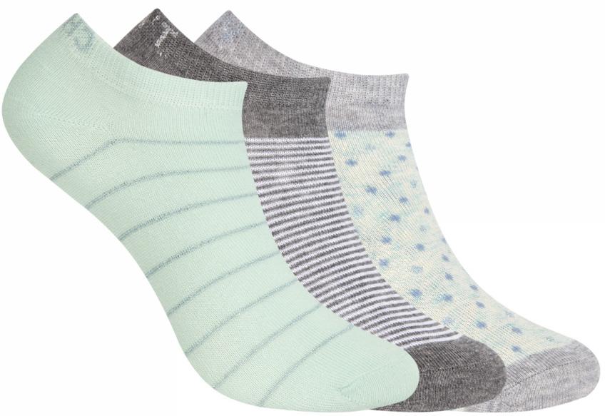 Носки женские oodji, цвет: мятный, серый, 3 пары. 57102477T3/15845/19FFP. Размер 35/3757102477T3/15845/19FFPКомплект от oodji состоит из трех пар укороченных носков. Носки выполнены из эластичного хлопкового материала с эластичной резинкой на паголенке.
