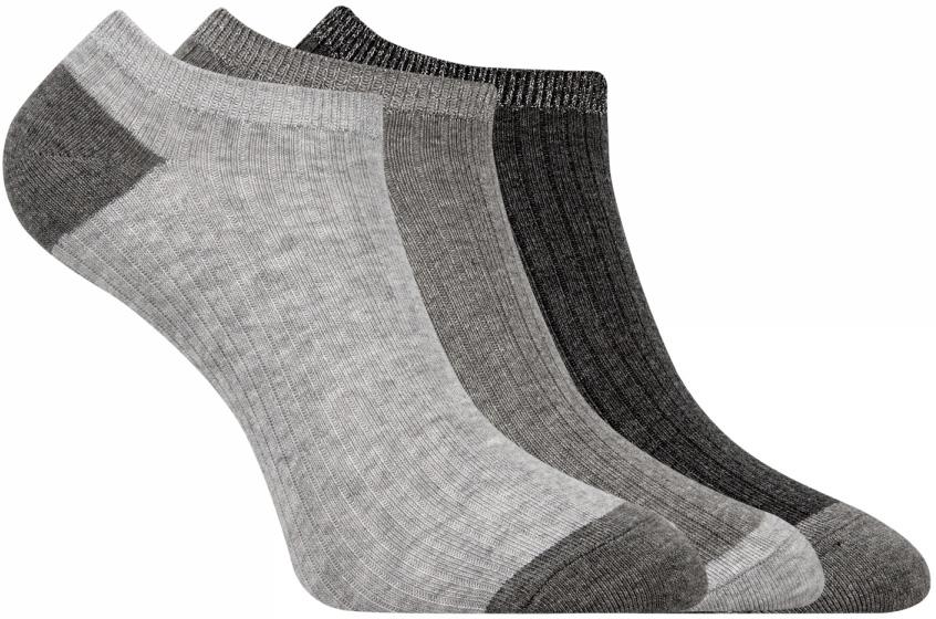 Носки женские oodji, цвет: серый, 3 пары. 57102476T3/48412/19F7B. Размер 35/3757102476T3/48412/19F7BКомплект от oodji состоит из трех пар укороченных носков. Носки выполнены из эластичного хлопкового материала с эластичной резинкой на паголенке.
