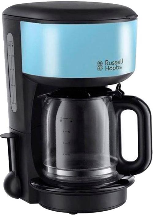 Russell Hobbs 20136-56 Colours Plus Heavenly, Blue кофеварка20136-56Неважно, любите ли вы черный кофе или кофе с молоком, кофеварка Russell Hobbs Flame Red идеально приготовит ваш любимый напиток. Это не просто кофеварка, это часть стиля вашей кухни. Кофеварка является частью коллекции для завтрака Colours Plus, обладает улучшенной технологией экстракции кофе и достигает оптимальной температуры заваривания на 50% быстрее, для того, чтобы вы в любой момент смогли насладиться чашкой идеального напитка.Кофеварка Colours Plus необычайно компактная и стильная. Приготовление до 10 чашек за одно заваривание, стеклянный кувшин емкостью 1.25 литра и мерная ложечка помогут вам с точностью приготовить необходимое количество чашек кофе. Предпочитаете ли вы крепкий или умеренный вкус, эта улучшенная версия кофеварки приготовит напиток, отвечающий именно вашему вкусу. Улучшенная технология экстракции кофе.Достижение оптимальной температуры заваривания на 50% быстрее.Емкость 1.25 литра.В комплекте мерная ложечка на 1 порцию.Приготовление до 10 больших чашей за одно заваривание.Стеклянный кувшин.Съемный держатель фильтра для кофе.Функция пауза.Выключатель с подсветкой.Индикация уровня воды.