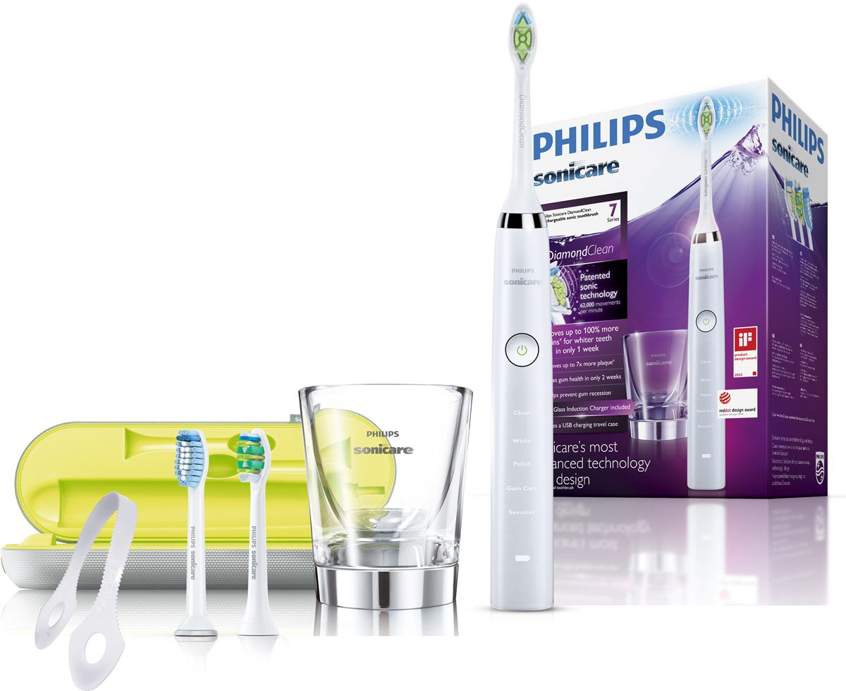Philips HX9332/35 Sonicare DiamondClean электрическая зубная щетка glass cup for charger hx9100 sonicare diamondclean toothbrush hx9340 hx9342 hx9313 hx9333 hx9362 hx9382 hx9302 hx9350 6530 6930