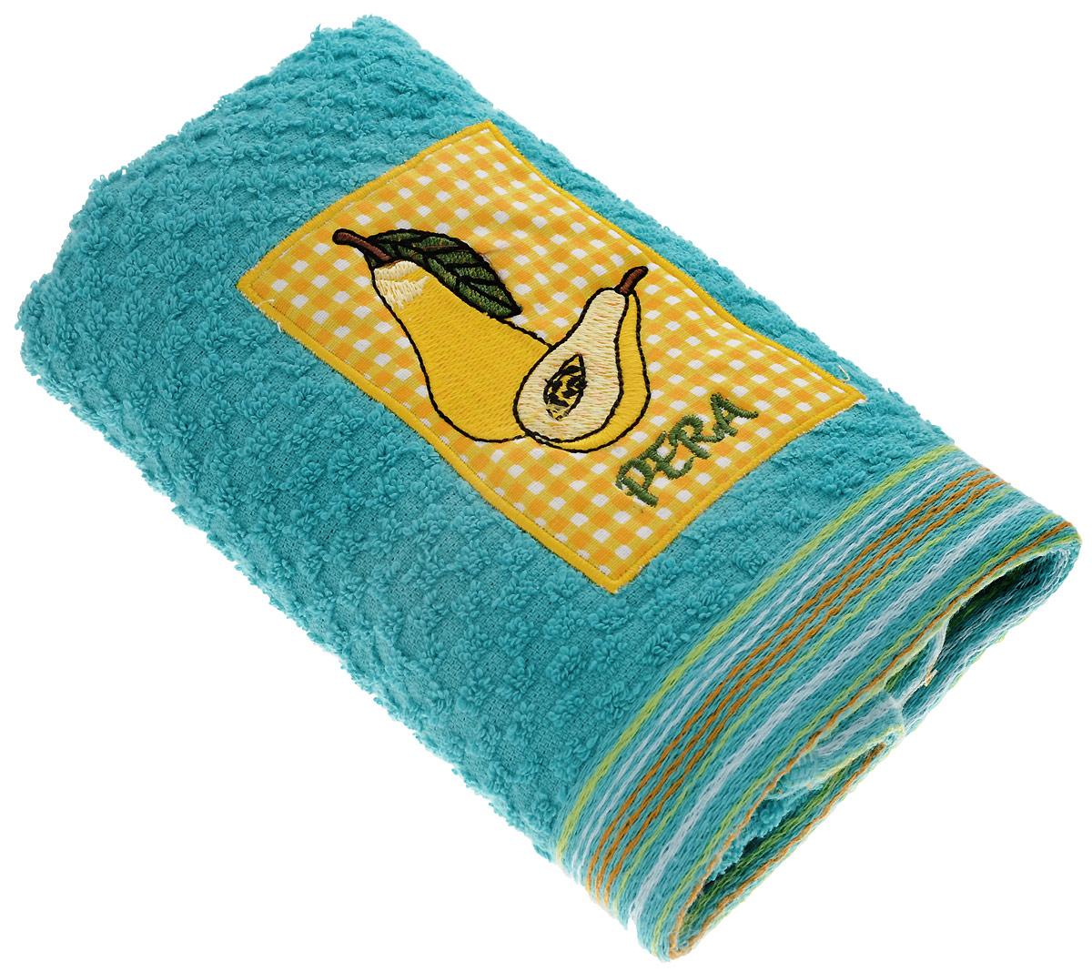 Полотенце кухонное Bonita Весёлый сад, цвет: бирюзовый, 40 х 60 см0101311585100% хлопок Размер: 40*60Махровое полотенце Bonita с вышивкой в пенале