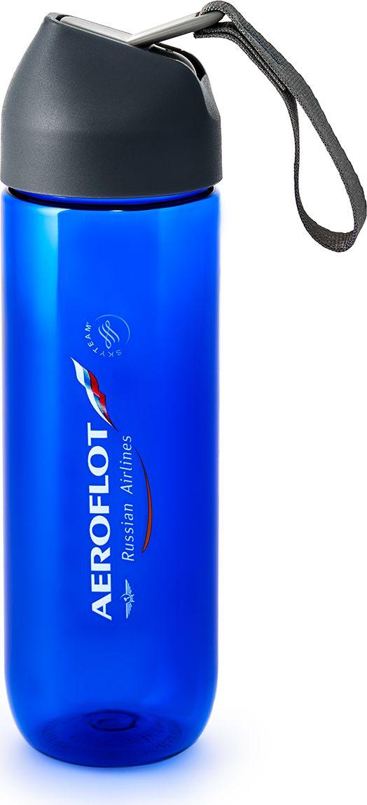Бутылка для спортивного питания  Аэрофлот , цвет: синий, 450 мл - Туристическая посуда