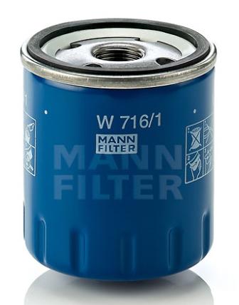 Фильтр масляный Mann-Filter. W7161W7161Характеристики масляого фильтра Mann-Filter: Наружный диаметр: 76 мм Внутренний диаметр 1: 62 мм Внутренний диаметр 2: 71 мм Размер резьбы: M 20 X 1.5 Высота: 89 мм Давление открытия обгонного клапана: 1,5 бар Номер рекомендуемого специального инструмента: LS 7/2 Противодренажный клапан: 1 шт. Применяется в автомобилях: Chevrolet, Citroen, Peugeot, Renault, Toyota.