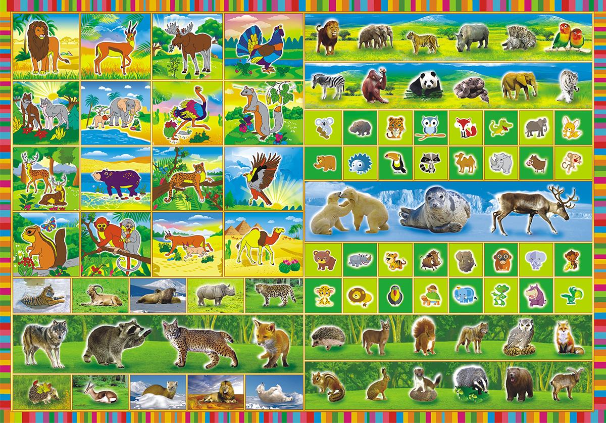 ЛиС Раскраска с наклейками Дикие животные ЛиС