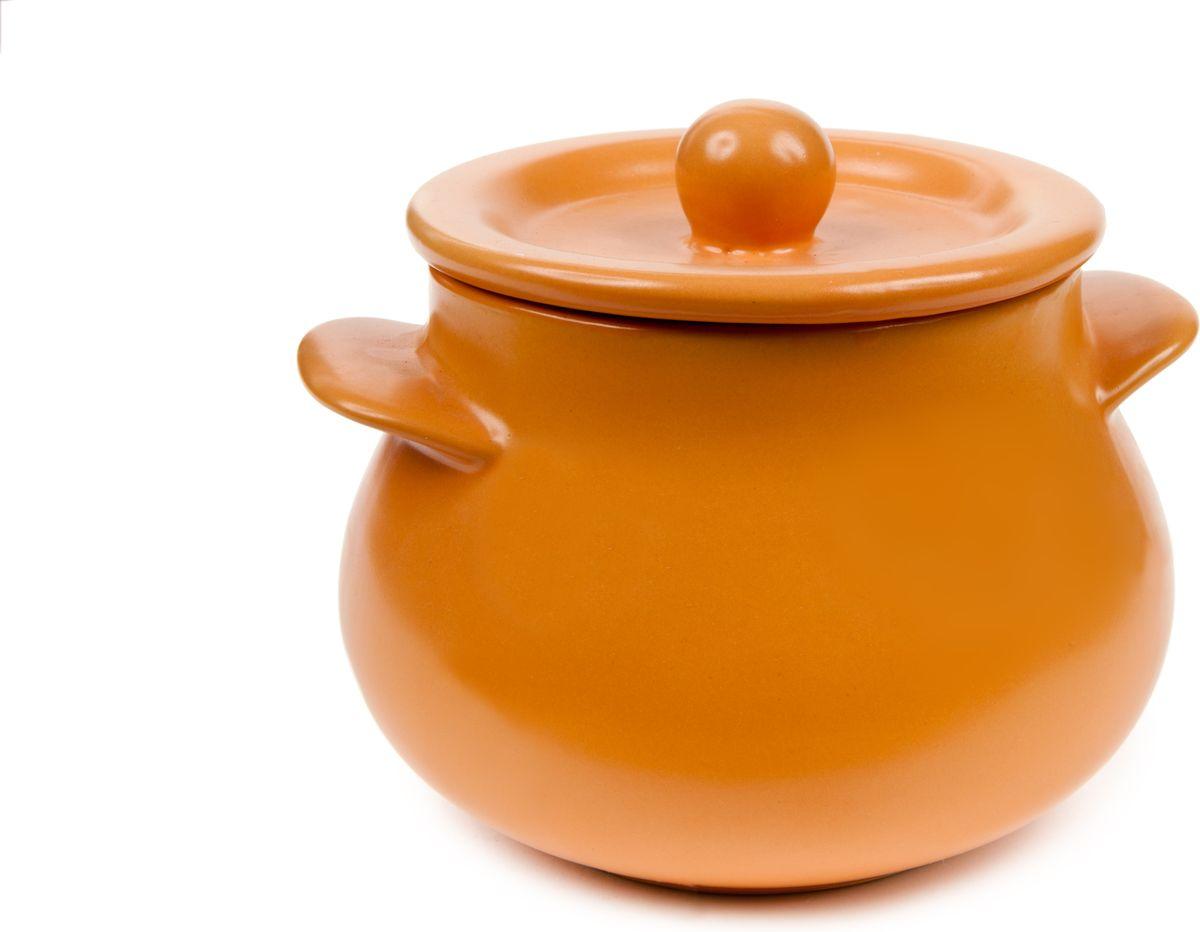Кастрюля HomeStar, с крышкой, цвет: оранжевый, 450 млLJYD3045OHomeStar - качественная керамическая посуда из обожженной, глазурованной глины с оригинальными декорами. Керамические горшки для запекания изготавливаются из красной глины. Посуду можно использовать в СВЧ и мыть в ПММ.