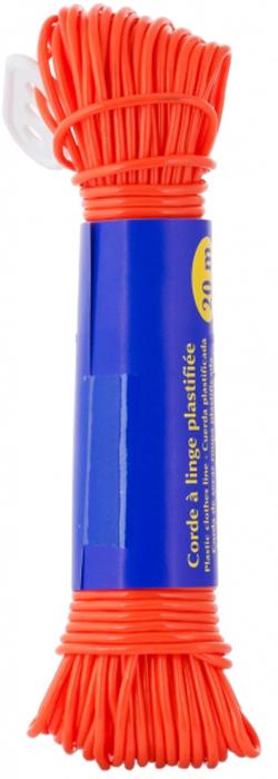 Веревка бельевая Rozenbal Эко, пластиковая, цвет: оранжевый, 20 м. R103020R103020Бельевая веревка Rozenbal Эко представляет собой пластиковую веревку. Изделие обладает высокойизносостойкостью. Веревка крепкая инадежная, не провисает при натягивании.Длина: 20 м.