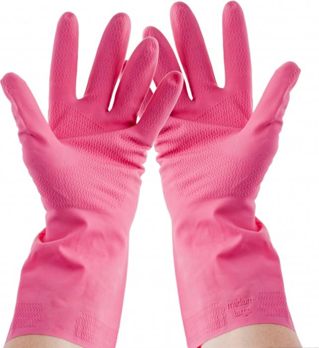 Перчатки хозяйственные Rozenbal, средние, тонкие, для дома. R105527
