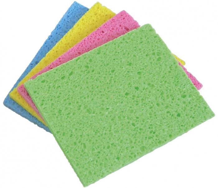 Губки для посуды Rozenbal, многофункциональные, натуральные, цвет: мультиколор, 4 шт. R148009R148009Губки Rozenbal для мытья тефлоновой посуды, бережно очищает не царапая поверхность. Размер: 11 х 8 х 3 cм.