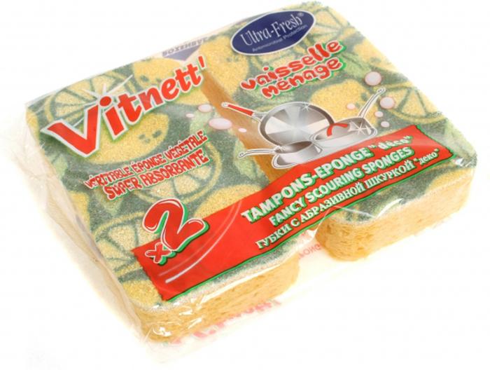 Губка для мытья посуды Rozenbal, натуральная, с декоративной шкуркой, цвет: желтый, 2 шт. R148013R148013Кухонные губки Rozenbal из крупнопористого поролона используются для мытья посуды, раковин, кухонной мебели. За счет пористого поролона с крупными ячейками губки Rozenbal обеспечивают обильную и стойкую пену, облегчают процесс мойки посуды и экономят расход моющего средства. Высококачественная абразивная шкурка легко очищает различные виды загрязнений, бережно относится к очистке деликатных поверхностей.