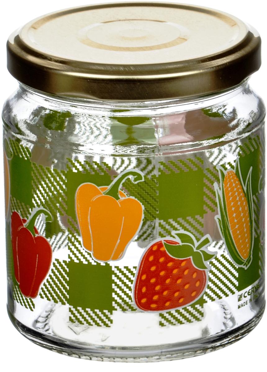 Банка для сыпучих продуктов CerveОвощи, 300 млCEM65910Банки Cerve итальянского производства изготовлены из прозрачного толстостенного стекла. Декорированы яркими рисунками овощей, ягод и фруктов. Банки имеют закручивающиеся крышки из пищевой жести, покрытой пищевым лаком и эмалью. Деколи стойки к истиранию и со временем не будут ржаветь.