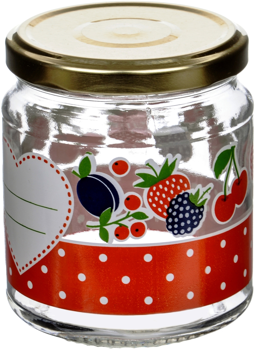 Банка для сыпучих продуктов Cerve Дафна, 300 млCEM65960Банка для сыпучих продуктов Cerve Дафна итальянского производства изготовлена из прозрачного толстостенного стекла. Декорирована яркими рисунками ягод и фруктов. Банка имеет закручивающуюся крышку из пищевой жести, покрытой пищевым лаком и эмалью. Деколи стойки к истиранию и со временем не будут ржаветь.