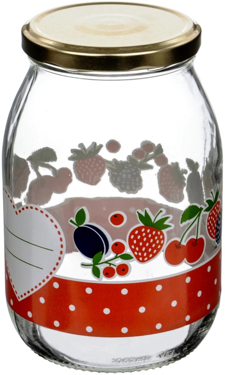 """Банка для сыпучих продуктов Cerve """"Дафна"""" итальянского производства изготовлена из прозрачного толстостенного стекла. Декорирована яркими рисунками ягод и фруктов. Банка имеет закручивающуюся крышку из пищевой жести, покрытой пищевым лаком и эмалью. Деколи стойки к истиранию и со временем не будут ржаветь."""