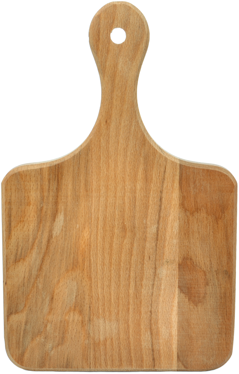 Доска разделочная Хозяюшка, с ручкой, 30 х 19 смMM12-52Доски разделочные из бука - выбор профессиональных поваров.Прочный бук обеспечивает идеальную поверхность для обработки различных пищевых продуктов, не говоря уже о его чисто эстетических свойствах. Бук отличают уникальная текстура и естественный розово-коричневый цвет древесины.По своим показателям бук очень близок к дубу. Кавказский бук наряду с дубом и тиком относится к ценным твердолиственным породам элитной группы категории А, класса люкс.Бук прекрасно поддается шлифовке и полировке. Чтобы дерево не трескалось и не рассыхалось, его пропитывают растительным маслом.Изделие упаковано в пленку ПВХ.