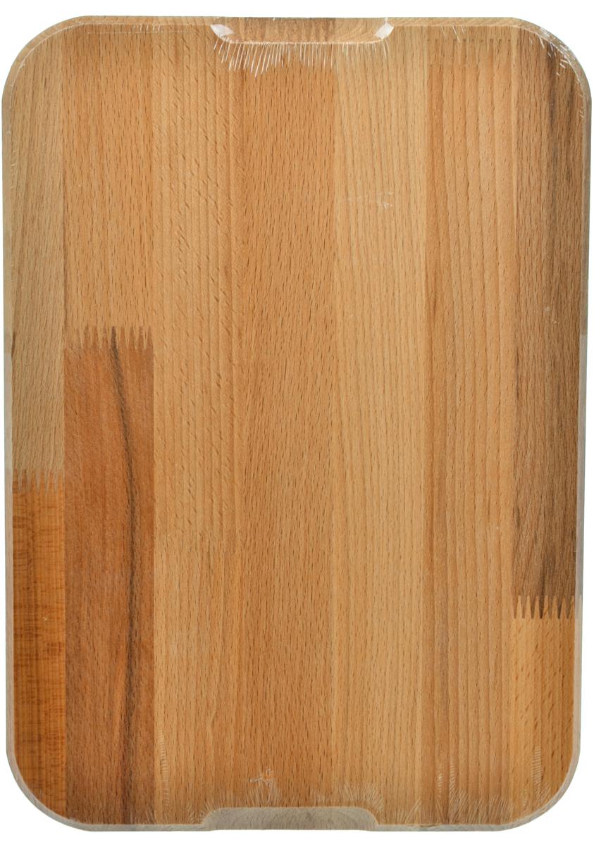 Доска разделочная Хозяюшка, профессиональная, 35 х 25 смMM20-2Доски разделочные из бука - выбор профессиональных поваров.Прочный бук обеспечивает идеальную поверхность для обработки различных пищевых продуктов, не говоря уже о его чисто эстетических свойствах. Бук отличают уникальная текстура и естественный розово-коричневый цвет древесины.По своим показателям бук очень близок к дубу. Кавказский бук наряду с дубом и тиком относится к ценным твердолиственным породам элитной группы категории А, класса люкс.Бук прекрасно поддается шлифовке и полировке. Чтобы дерево не трескалось и не рассыхалось, его пропитывают растительным маслом.Изделие упаковано в пленку ПВХ.