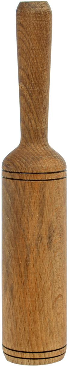Толкушка Хозяюшка, 23 х 4 х 4 смMM40-4Бренд Хозяюшка - это разделочные доски и аксессуары из бука, произведенные вКабардино-Балкарии. Прочный бук обеспечивает идеальную поверхность дляобработки различных пищевых продуктов, не говоря уже о его чисто эстетическихсвойствах. Бук отличают уникальная текстура и естественный розово-коричневыйцвет древесины. По своим показателям бук очень близок к дубу. Кавказский букнаряду с дубом и тиком относится к ценным твердолиственным породам элитнойгруппы категории А, класса люкс. По структуре древесины бук считается менеерыхлым, чем дуб, и более гибким, чем тик, при этом не уступает по прочности этимдвум великолепным породам, а по красоте даже превосходит их. Бук прекрасноподдается шлифовке и полировке. Чтобы дерево не трескалось и не рассыхалось,его пропитывают растительным маслом. Все изделия упакованы в пленку ПВХ.