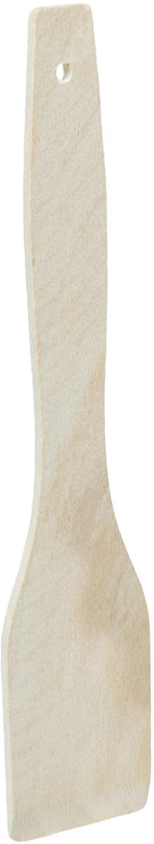 Лопатка кулинарная Хозяюшка, длина 25 смMM40-5Лопатка кулинарная Хозяюшка из бука, произведена в Кабардино-Балкарии. Прочный бук обеспечивает идеальную поверхность для обработки различных пищевых продуктов, не говоря уже о его чисто эстетических свойствах. Бук отличают уникальная текстура и естественный розово-коричневый цвет древесины. По своим показателям бук очень близок к дубу. Кавказский бук наряду с дубом и тиком относится к ценным твердолиственным породам элитной группы категории А, класса люкс. По структуре древесины бук считается менее рыхлым, чем дуб, и более гибким, чем тик, при этом не уступает по прочности этим двум великолепным породам, а по красоте даже превосходит их. Бук прекрасно поддается шлифовке и полировке. Чтобы дерево не трескалось и не рассыхалось, его пропитывают растительным маслом. Все изделия упакованы в пленку ПВХ.