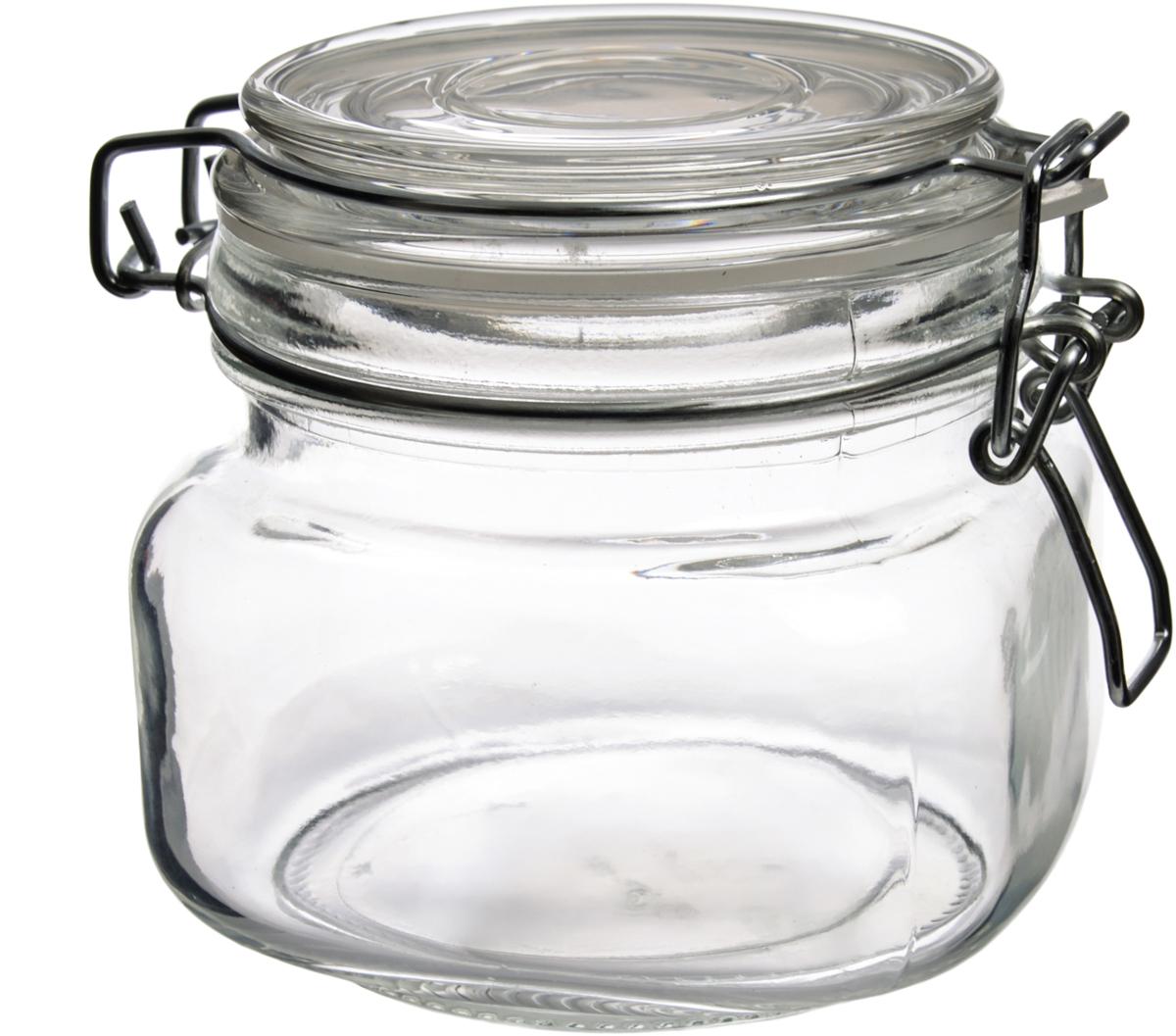 Банка для сыпучих продуктов Оптима,  млOMBY-630Стекло является инертным материалом, поэтому стеклянная упаковка является самой экологически чистой как для жидких, так и для сыпучих продуктов. В бытовом смысле требования к стеклянной посуде достаточно просты: если это емкость для сыпучих или банка для консервирования, она должна быть удобной по форме, гладкой, прозрачной, прочной и хорошо закрываться. Банки имеют металлические закручивающиеся крышки либо стеклянные крышки с бугельным замком, обеспечивающим максимальное соединение крышки с банкой. Уплотнительная пластиковая вставка защитит стекло от сколов и усилит вакуумный эффект.Изделия из стекла без металлических деталей можно использовать в СВЧ и мыть в ПММ. Декорированную посуду желательно мыть вручную, без применения агрессивных моющих средств и жесткой фибры или абразива, могущих поцарапать стекло.