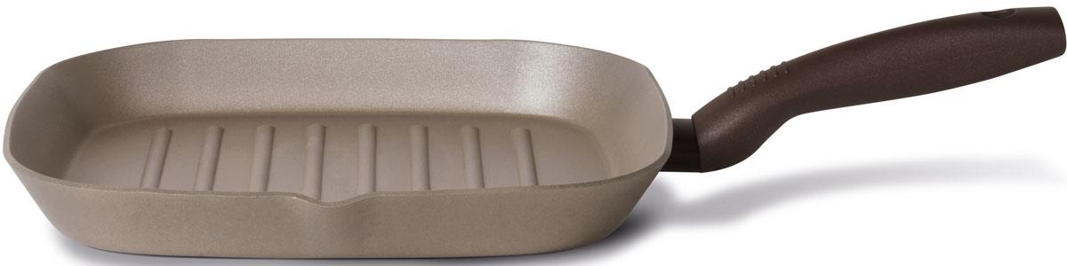 Сковорода-гриль TVS Gustosa, с антипригарным покрытием, 28 x 28 см сковороды tvs сковорода tvs splendida 24 см