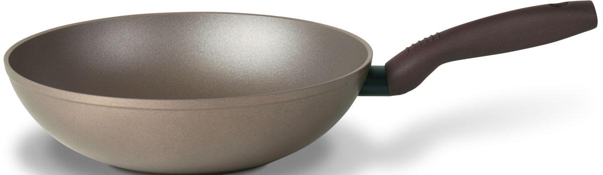 """Сковорода-вок TVS """"Gustosa"""" выполнена из алюминия с внешним эмалированным покрытием  бежевого цвета и обладает превосходной теплопроводностью. Идеально подходит для жарки и  тушения блюд. Внутреннее антипригарное керамическое покрытие Ceramit позволяет готовить  пищу практически без использования масла.   Эргономичная ручка, изготовленная из бакелита, имеет плавные формы, которые  подчеркивают стиль сковороды.   Сковорода-вок TVS """"Gustosa"""" изготовлена из экологичных материалов, что делает ее  пригодной для приготовления пищи детям.     Подходит для всех видов плит, кроме индукционных.   Можно мыть в посудомоечной машине."""