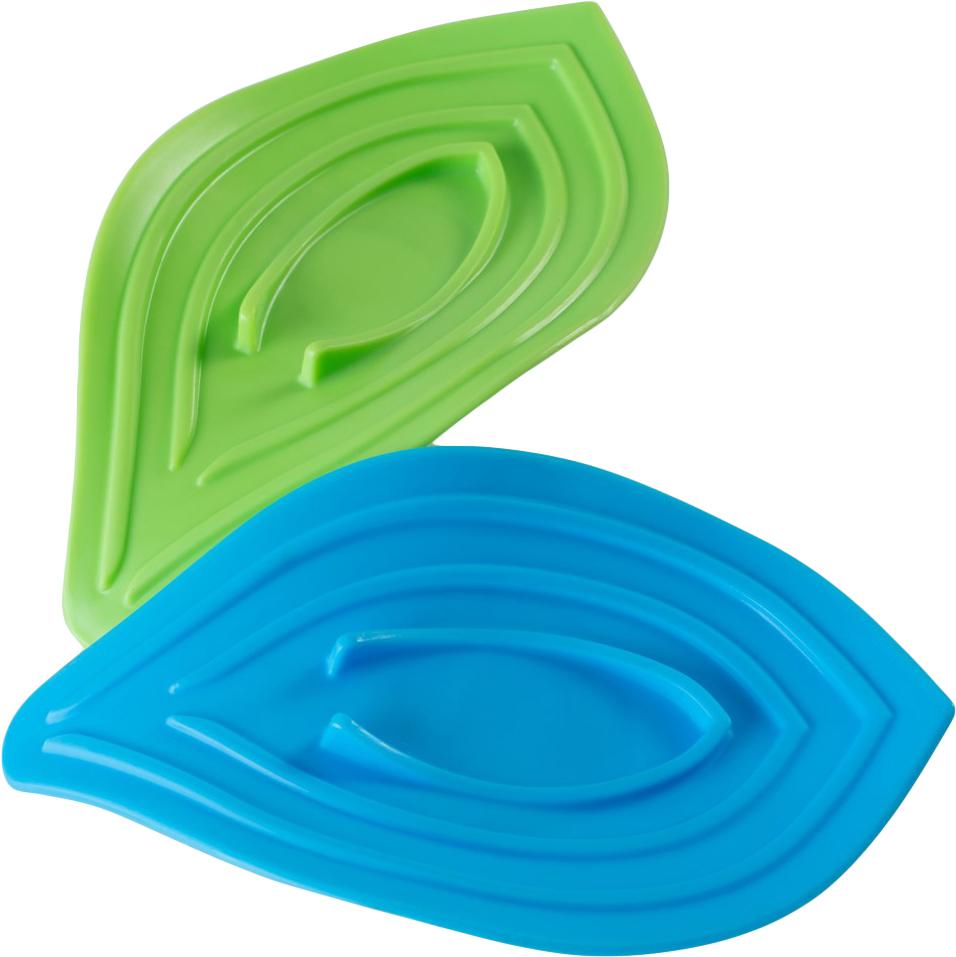 Набор подставок для мыла и губки Ruges Листики, 2 штV-7Мыло и мокрые губки на бортике раковины доставляют неудобства, потому что влага и потеки неизбежны. Набор подставок на кухню для мыла и губки «ЛИСТИКИ» - пластиковые емкости со стоком для воды. Подставки «ЛИСТИКИ» устанавливаются на край раковины с помощью присоски и благодаря конструкции лишняя вода стекает в раковину, а предметы в них остаются сухими. Яркие подставки добавят настроения и помогут поддерживать кухню в чистоте! Размер одной подставки: 15*8,5 см. В основании уплотнительное кольцо - предотвращает от соскальзывания. Инструкция на русском языке.