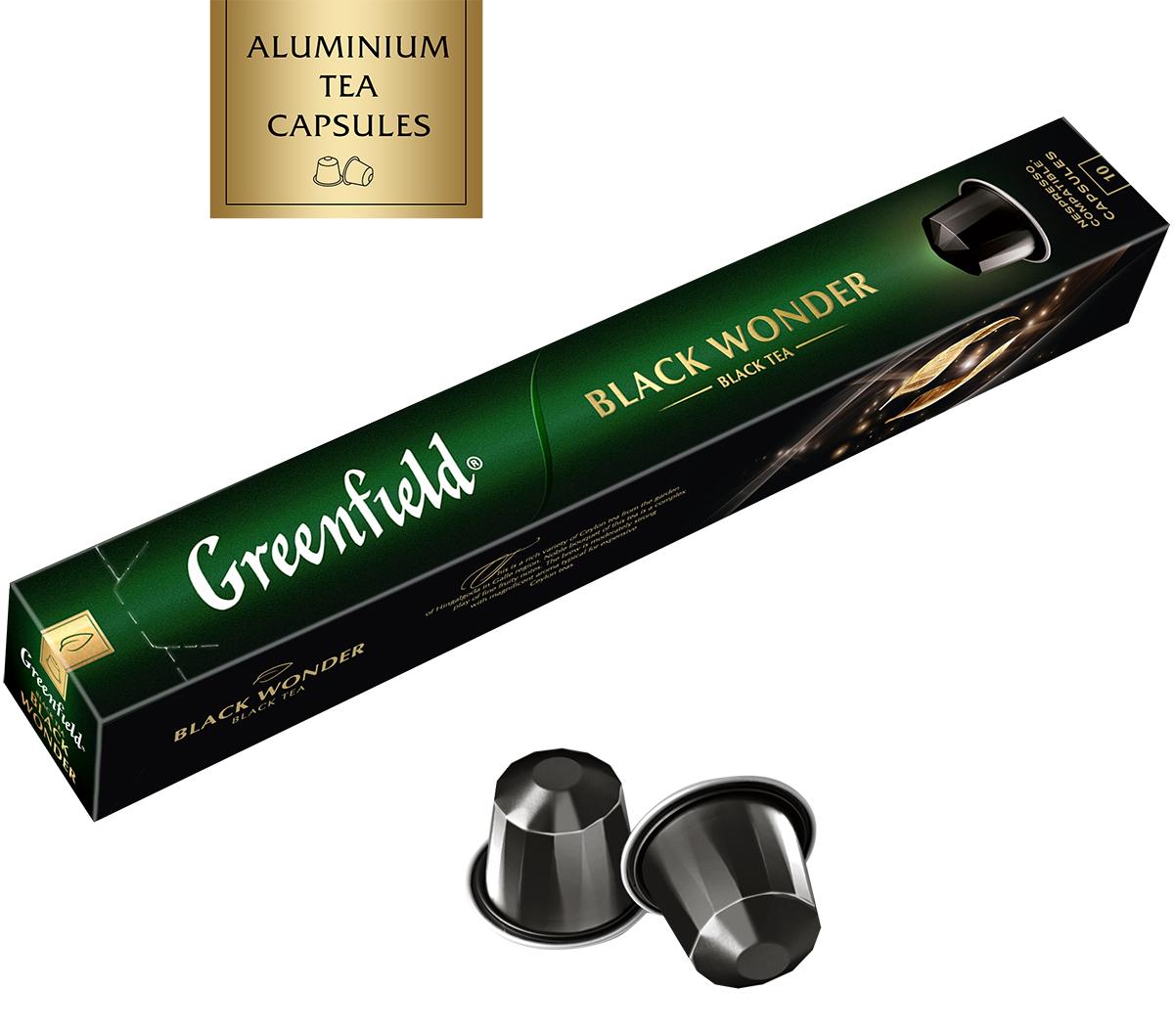 Greenfield Black Wonder черный чай в алюминиевых капсулах, 10 шт по 2,5 г greenfield garnet oolong зеленый чай в алюминиевых капсулах с ароматом граната и лепестками василька 10 шт по 2 5 г