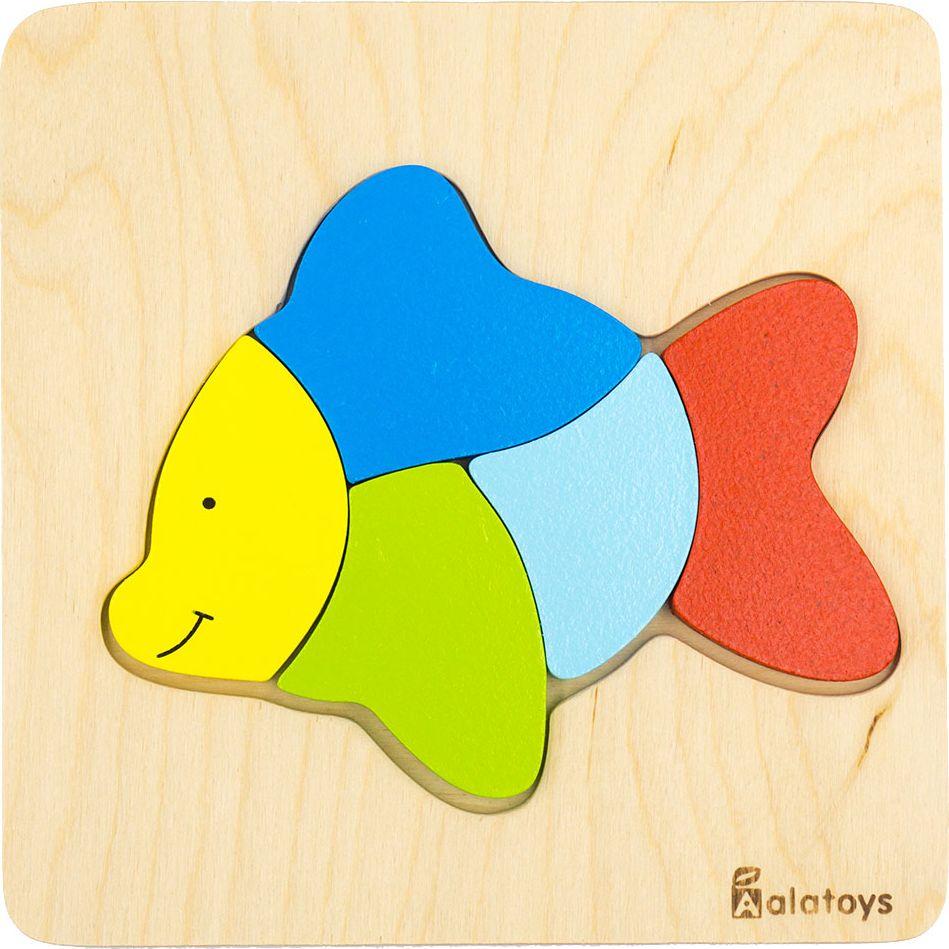 Alatoys Пазл для малышей Рыбка август пазл для малышей рыбка цвет основы красный