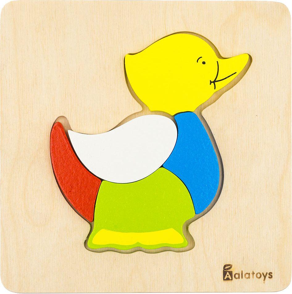 Alatoys Пазл для малышей Уточка learning journey пазл для малышей озорные фигуры 4 в 1