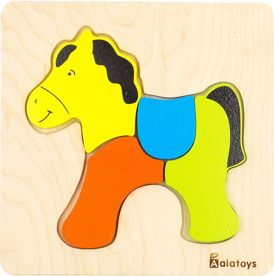 Alatoys Пазл для малышей Лошадка ПЗЛ1804 цены
