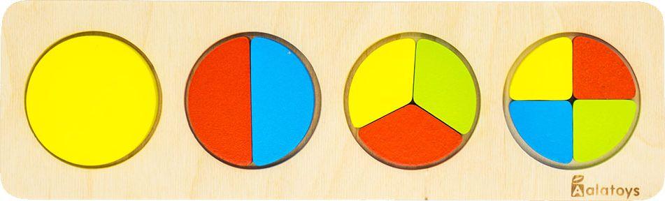 Alatoys Пазл для малышей Дроби-круги learning journey пазл для малышей озорные фигуры 4 в 1