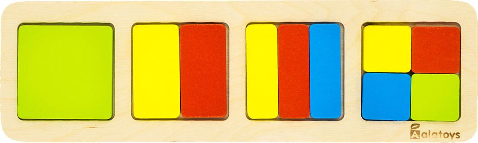 Alatoys Пазл для малышей Дроби-квадраты learning journey пазл для малышей озорные фигуры 4 в 1