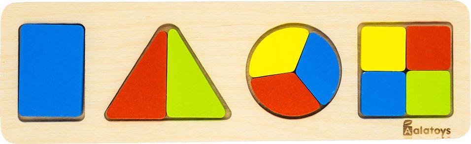 Alatoys Пазл для малышей Дроби-фигуры ДР1003 learning journey пазл для малышей озорные фигуры 4 в 1