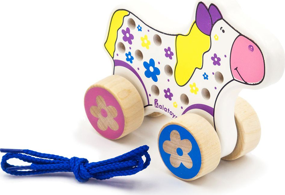 Alatoys Шнуровка-каталка Лошадь каталки игрушки wonderworld поезд на веревочке