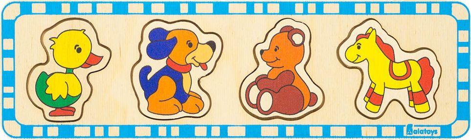 Alatoys Пазл для малышей Медведь Утка Лошадь Собака
