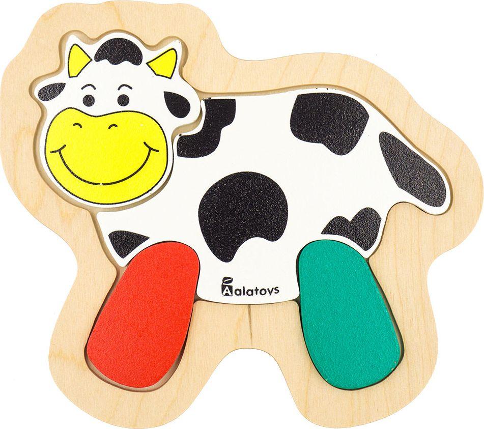 Alatoys Пазл для малышей Корова learning journey пазл для малышей озорные фигуры 4 в 1