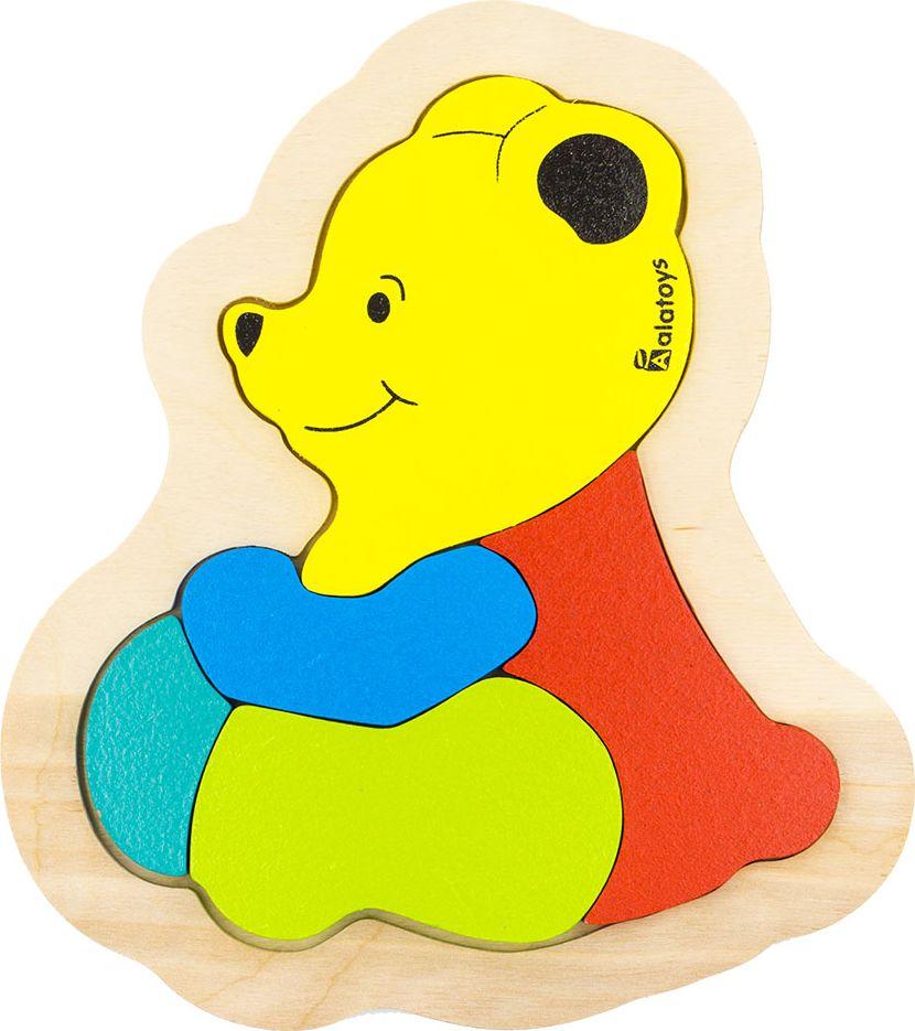 Alatoys Пазл для малышей Медвежонок learning journey пазл для малышей озорные фигуры 4 в 1