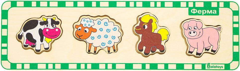 Alatoys Пазл для малышей Ферма learning journey пазл для малышей озорные фигуры 4 в 1